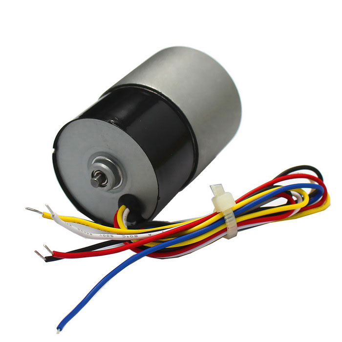 High torque dc 24v 115rpm brushless gear motor black for Geared brushless dc motor
