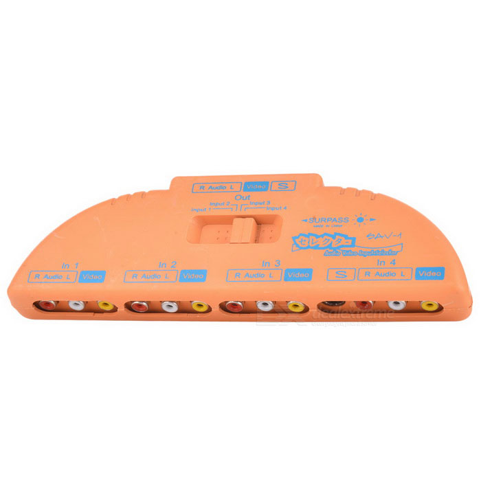 3-v 1-out AV Adapter Converter - Orange
