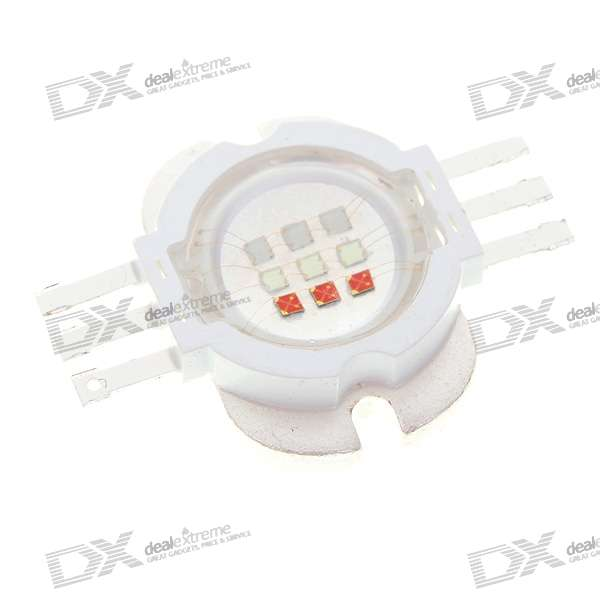 10W 500-Lumen Multi-Color RGB LED Emitter Metal Plate (90~100 degree)