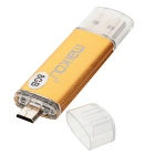 MaiKou Micro USB OTG USB 2.0 Flash Drive - Gold (8GB)