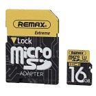 REMAX Class10 Micro SD / TF Memory Card - Black + Yellow (16GB)