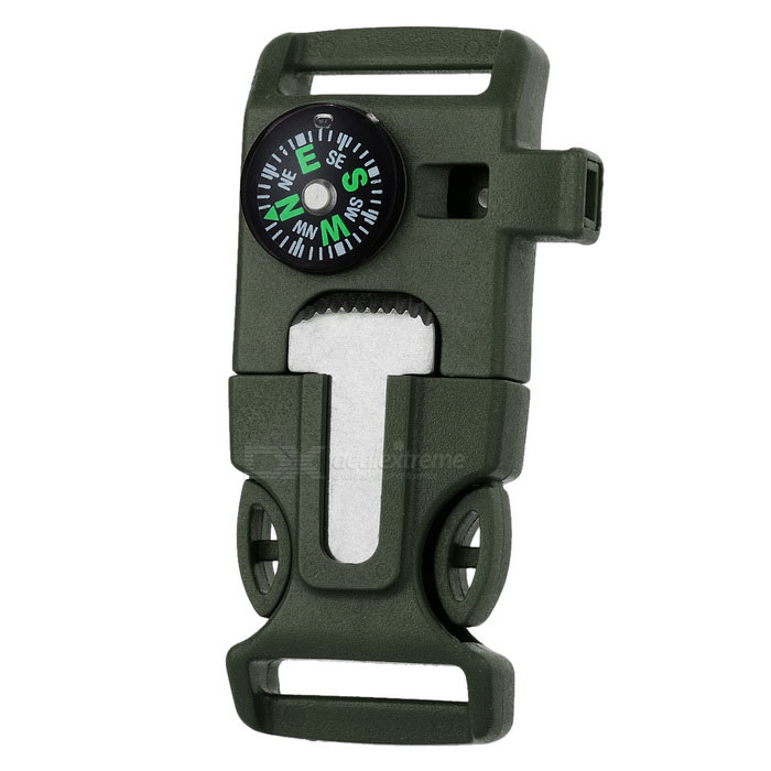 Outdoor Survival Buckle Multi-Tool - Army Green