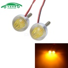 CARKING 3W Motorcycle LED License Plate Lights Yellow Light (12V/2PCS)