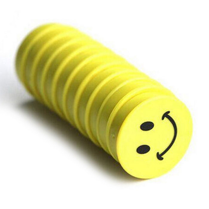 FUNI CT-366 Whiteboard dessin animé smiley aimant-Jaune (10 PCS)