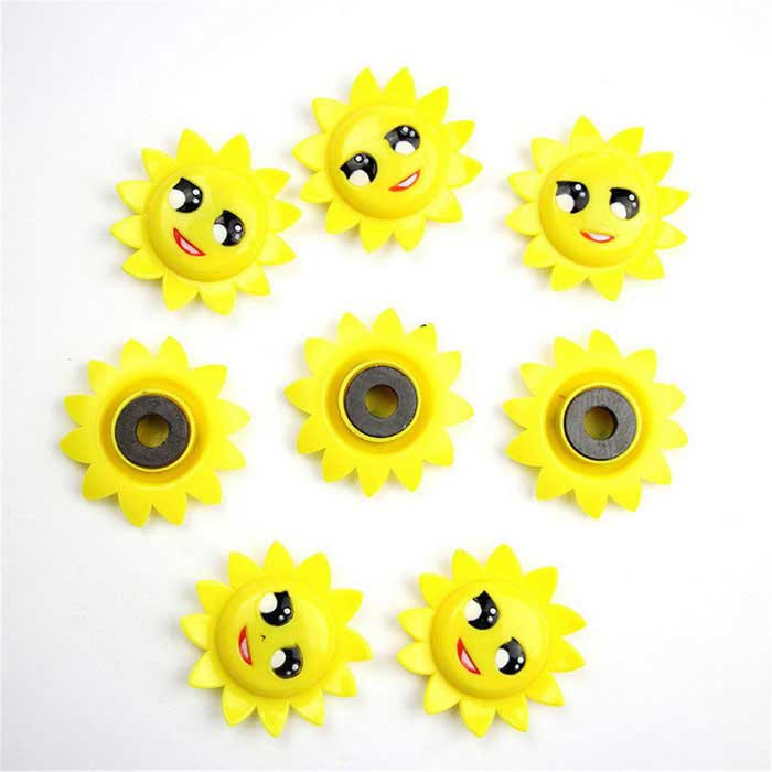 FUNI CT-303 Sunflower Type Whiteboard Magnets - Yellow (8 PCS)Magnets Gadgets<br>Form  ColorYellowModelCT-303MaterialABSQuantity1 DX.PCM.Model.AttributeModel.UnitNumber8Suitable Age 3-4 years,5-7 years,8-11 years,12-15 years,Grown upsPacking List8 * Sunflower magnets<br>