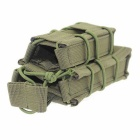 Outdoor Field Hunting Small Pistol Rifle Cartridge Bag - Army Green