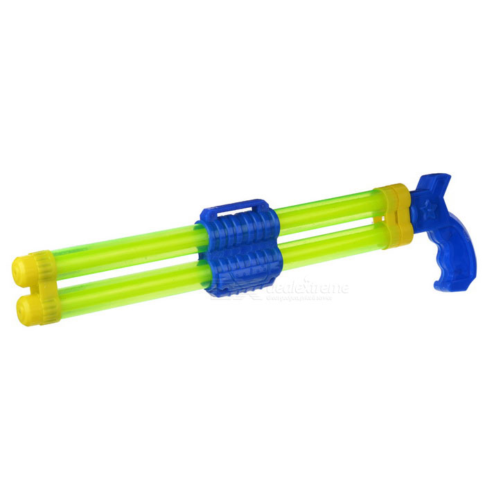 Outdoor Double Barrel Drifting Water Gun Toy - Blue