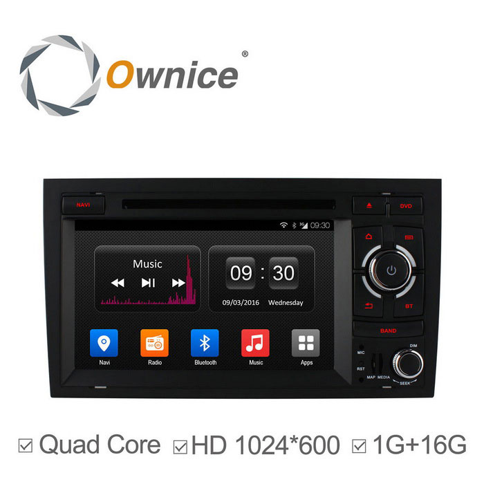 Ownice C300 HD 1024 * 600 Quad-Core Android 4.4 Car DVD Player - Black