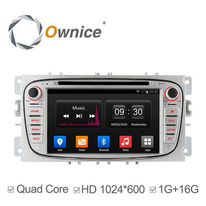 "Ownice C300 7 ""1024 * 600 Android 4.4 Auto DVD-soitin Ford Focus"