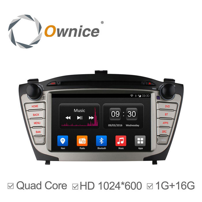 Ownice C300 Android 4.4 1024 * 600 Car DVD Player Hyundai IX35