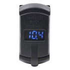 Automoble Motorsykkel 12V Billader med Dual USB Voltmeter Red Light
