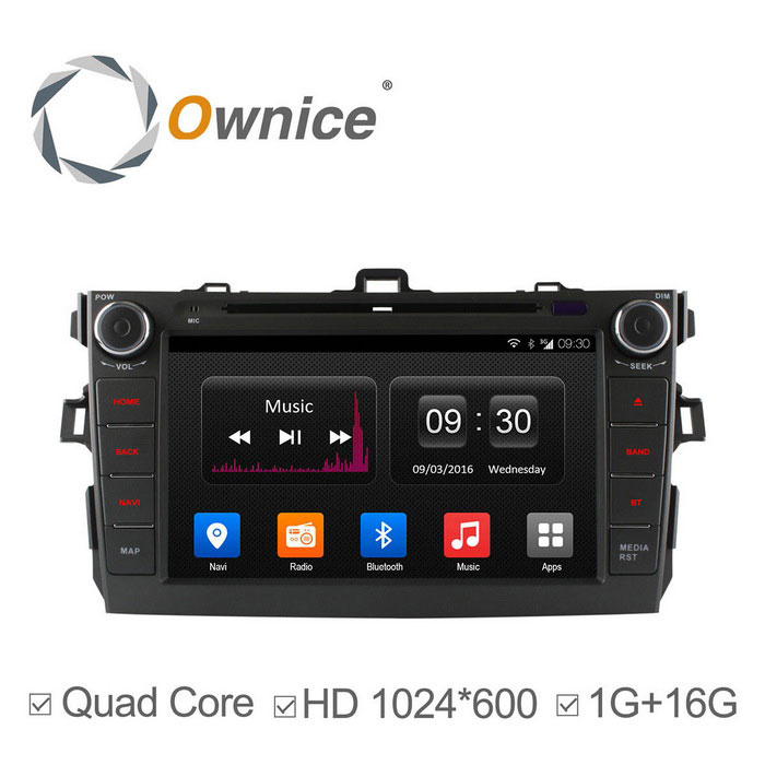 Ownice C300 Android 4.4 1024 * 600 coches reproductor de DVD para Toyota Corolla