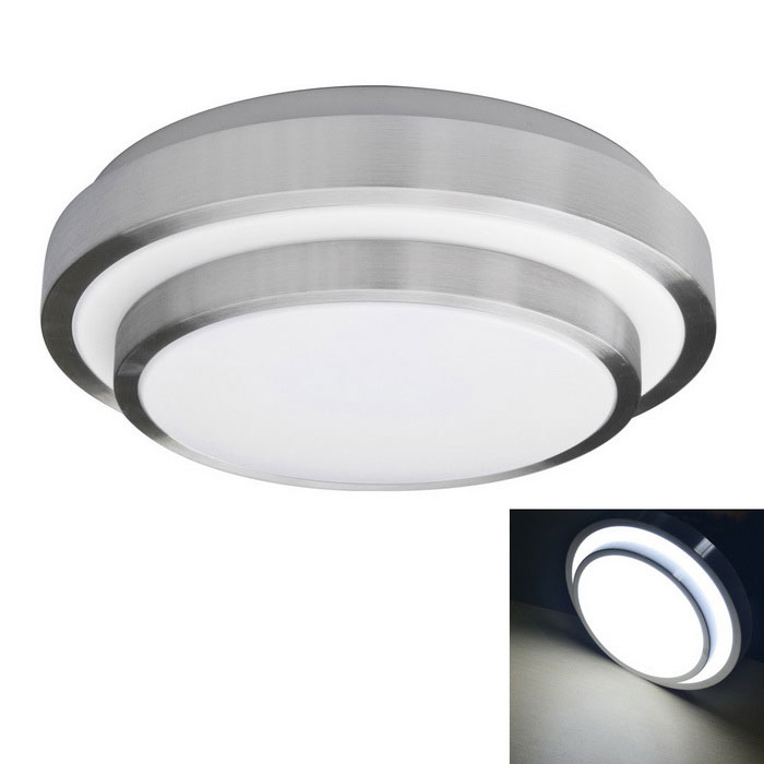 JIAWEN 12W 960m 6000K Cold White LED White Ceiling Light (AC85-265V)Ceiling Light<br>Form  ColorWhite + SilverColor BINCool WhiteModelSL-28x8-12W-CWQuantity1 DX.PCM.Model.AttributeModel.UnitMaterialPlasticPower12WRated VoltageAC 85-265 DX.PCM.Model.AttributeModel.UnitEmitter TypeOthers,5730Total Emitters24Theoretical Lumens960-1080 DX.PCM.Model.AttributeModel.UnitActual Lumens960 DX.PCM.Model.AttributeModel.UnitColor Temperature12000K,Others,6000-6500KDimmableNoBeam Angle180 DX.PCM.Model.AttributeModel.UnitExternal Diameter28 DX.PCM.Model.AttributeModel.UnitHeight8 DX.PCM.Model.AttributeModel.UnitPacking List1 x Ceiling Light<br>