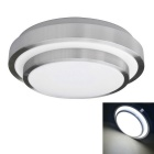 Buy JIAWEN 12W 960lm 6000K 24-5730 SMD LED Cool White Ceiling Light - + Silver (AC 85~265V)
