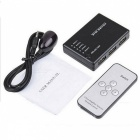 BSTUO HDMI Splitter Switch 5 input to 1 output HDMI Splitter - Black
