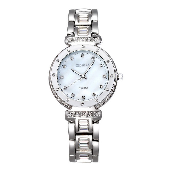 Weiqin Women's Watch w / Luminous Pointer - Prata + Branco