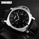 SKMEI 1124 Men's 30m Waterproof Quartz Watch w/ Calendar - Silver