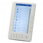 "E003 7 ""LCD E-Book Reader Media Player ж / FM-радио + Диктофон - белый (128 RAM/2GB Flash)"