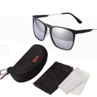 ReeDoon R8368 UV400 Protection Polarized Sunglasses - Black + Silver