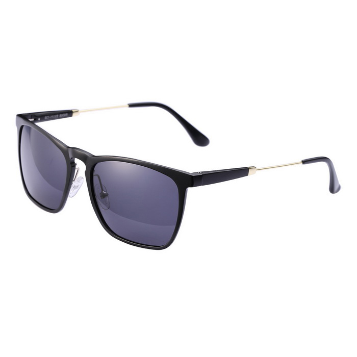 ReeDoon R8368 UV400 Protection Polarized Sunglasses - Black + Grey