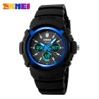 SKMEI 1149 30m Waterproof Multifunction Sports Watch - Blue + Black