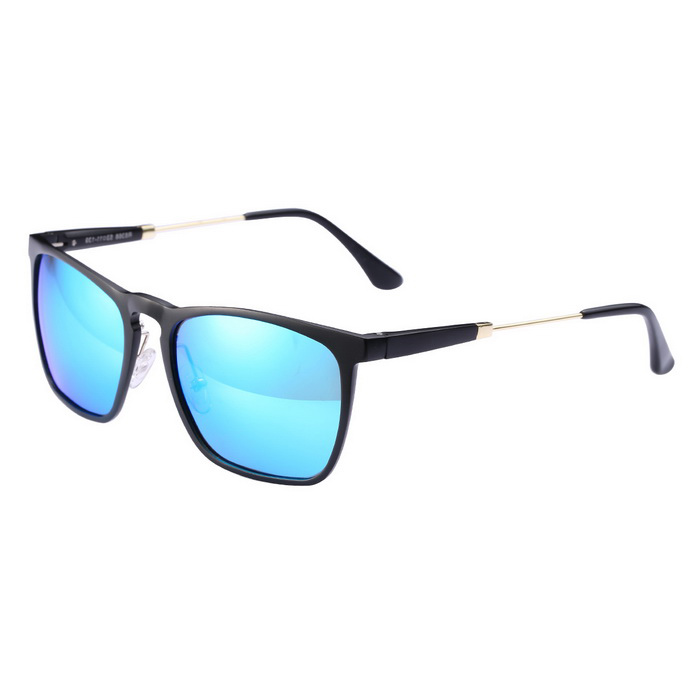 ReeDoon R8368 UV400 Protection Polarized Sunglasses - Black + Blue