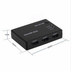 BSTUO 1080P 3-in 1-out HDMI V1.4 Switch w / Remote Controller - Preto