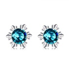 Xinguang Women's Classic Snowflake Style Shiny Stud Earrings (Pair)