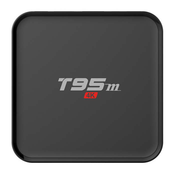 T95M 4K S905 quad-core android 5.1 reproductor de TV inteligente - negro (plug eu)