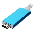 USB Male to HDMI Cable Converter - White + Sky Blue (200cm)