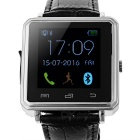 "Bluetooth V4.0 nahka bändi Metal Case 1.44 ""TFT Smart Watch - hopea"