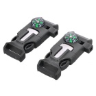 Outdoor Survival Tool Multifunctional Whistle - Army Green (2PCS)