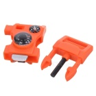 Survival Tool Multifunctional Whistle w/ Thermometer - Orange (2PCS)