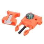 Outdoor Survival Tool Multifunctional Whistle - Orange (2PCS)