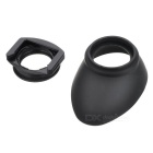 Rubber Oval Eyecup + Square to Round Adapter for Nikon - Black