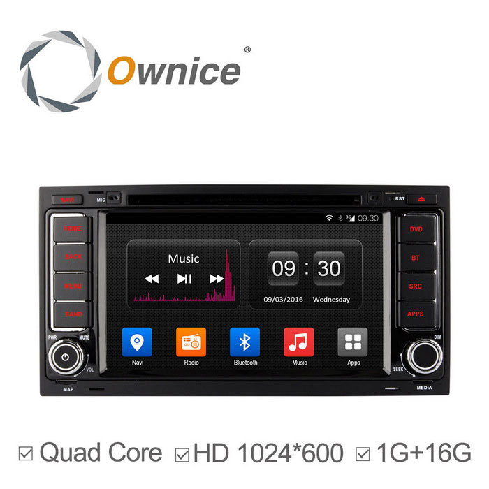 Ownice C300 Android 4.4 HD 1024 * 600 DVD do carro para VW Touareg
