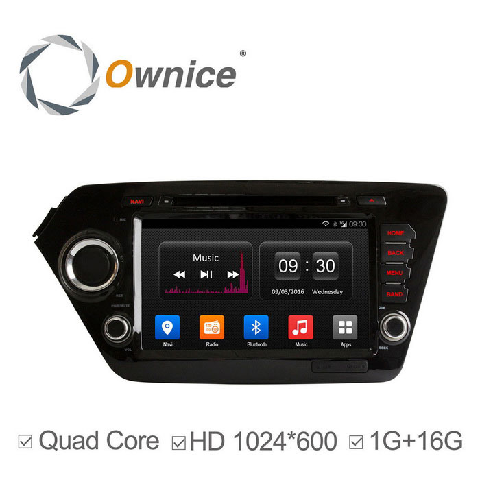 Ownice C300 HD 1024 * 600 Android 4.4 lettori DVD dell'automobile per Kia K2 Rio