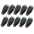 5.5 x 2.1mm CCTV DC Power Female Jack Connector (10-Pack)