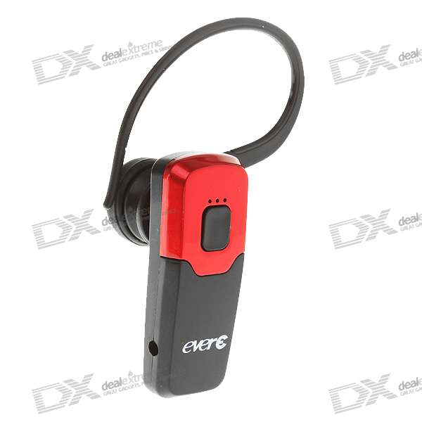 E59 Bluetooth V2.1 Handsfree Headset - Red + Black (3.5-Hour Talk/60-Hour Standby)