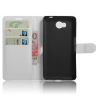 PU Leather Wallet Cases w/ Card Slots for Elephone P9000 Lite - White