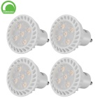 GU10 5W 5-SMD 2835 LED Cool White Dimmable Spotlight Lamps - White