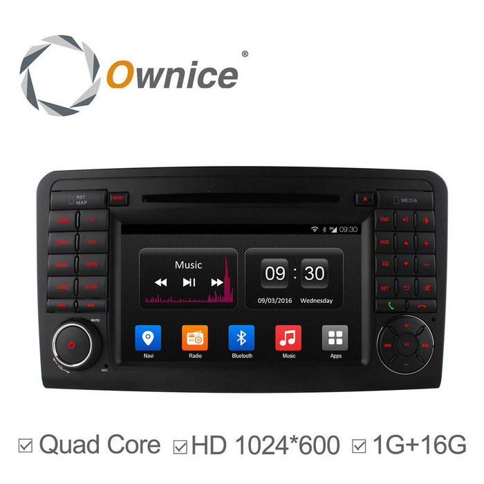 Ownice C300 HD 1024 * 600 Quad-Core Android 4.4 DVD para carro Benz W164