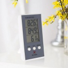 LCD Digital Indoor/Outdoor Thermometer Hygrometer - Grey