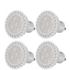 GU10 5W 5-SMD 2835 LED Neutral White Dimmable Spotlight Lamps - White