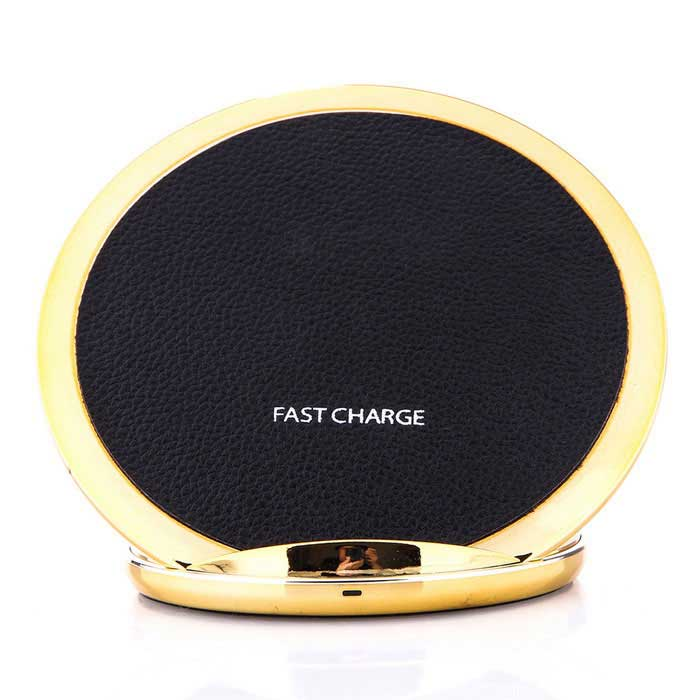 Qi Standard Charger Support Fast Charge - Gold