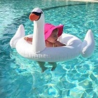 Inflatable Children White Swan Small Animal Swimming Ring - White