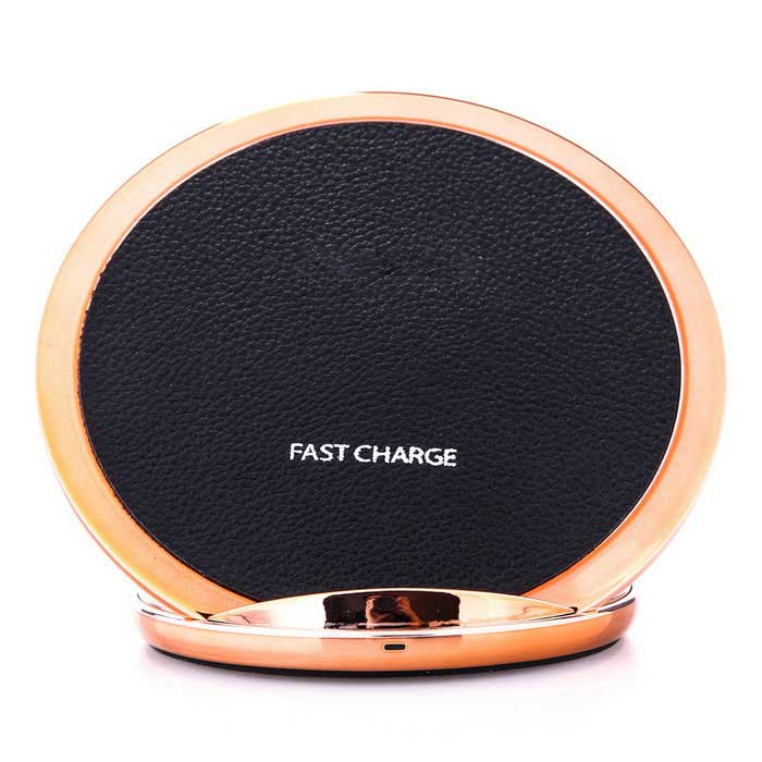 Qi Standard Charger Support Fast Charge - Black + Rose Gold