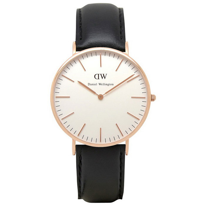 Daniel Wellington 0107DW Men's Classic Sheffield Watch - Black + Gold