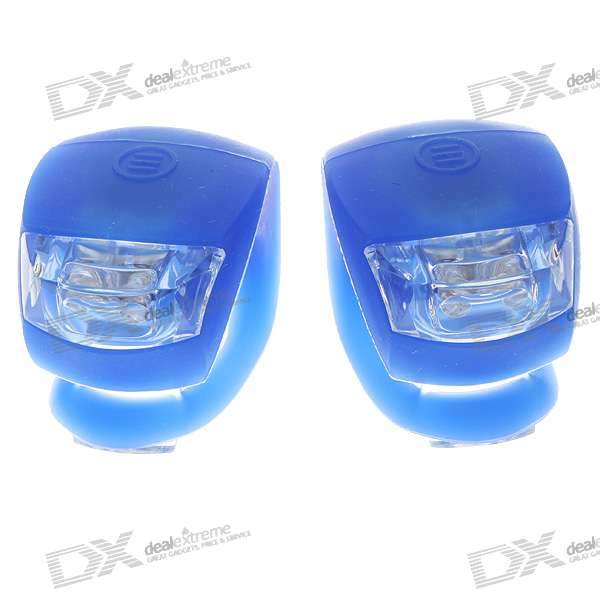 2-LED 3-Mode Fog Bicycle Light - Blue (Pair/2*CR2032)