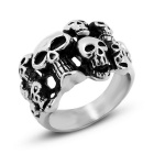 Punk Personality Cool Skulls Pattern 316L Stainless Steel Men's Ring